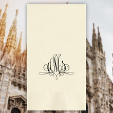 Milan Monogram Personalized Guest Towels - Foil Pressed - 100/Set | StationeryXpress.com | NX168