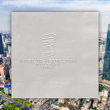 Times Square Personalized Napkins - Embossed - 100/Set - Made In The USA | Stationeryxpress.com NX188