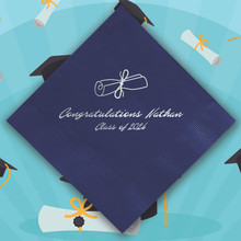 Graduation Personalized Napkins - Foil Pressed - StationeryXpress (NX136)