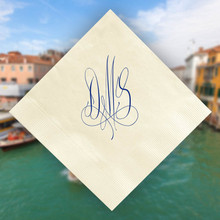 Venice Monogram Personalized Napkins - Foil Pressed - Stationery Xpress (NX154)