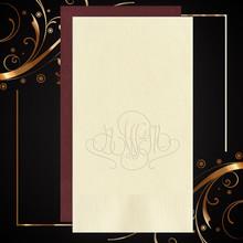 Barcelona Monogram Personalized Guest Towels - Embossed - 100/Set | StationeryXpress.com | NX153