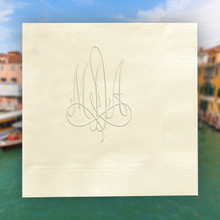 Verona Monogram Personalized Napkins - Embossed - 100/Set StationeryXpress.com NX175