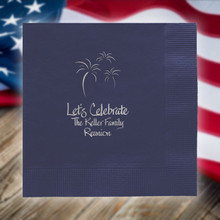Independence Day Personalized Napkins - Foil Pressed - StationeryXpress (NX126)