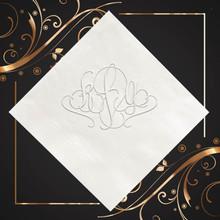 Barcelona Monogram Personalized Napkins - Embossed - 100/Set StationeryXpress | NX151
