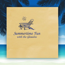 Summertime Personalized Napkins - Foil Pressed - 100/Set (NX109)