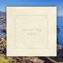 Santorini Wedding Personalized Napkins - Embossed - 100/Set | StationeryXpress.com | NX191