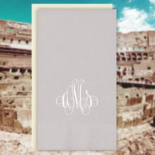 Rome Monogram Personalized Guest Towels - Foil Pressed - 100/Set | StationeryXpress.com | NX165