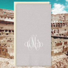 Rome Monogram Personalized Guest Towels - Foil Pressed - 100/Set | StationeryXpress.com | NX165