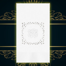 Luxury Wedding Monogram Personalized Guest Towels - Embossed - 100/Set - StationeryXpress NX198