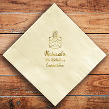 Birthday Party Personalized Napkins - Foil Pressed - 100/Set (NX103)