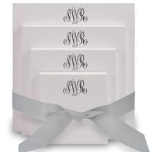 Del Mar Monogram 4-Tablet Set - White - 10 Monogram Styles (EG6522)