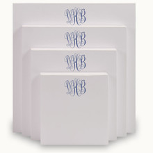 Del Mar Monogram 4-Tablet Set - White - 10 Monogram Styles (EG6522)