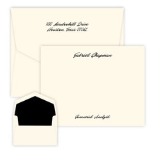 Paradise Personalized Flat Cards - Raised Ink Stationery - Optional Border - Made In The USA (EG7102)