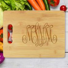 Del Mar Personalized Monogram Cutting Board - Engraved (EG4010)