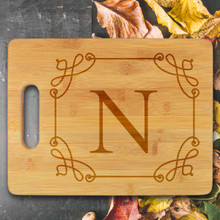 Grand Initial Personalized Cutting Board - Engraved (EG4019)