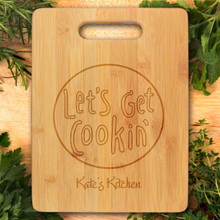 Let's Get Cookin' Personalized Cutting Board - Engraved (EG4024)