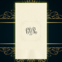 Luxury Wedding Monogram Personalized Guest Towels - Foil Pressed - 100/Set | StationeryXpress NX197