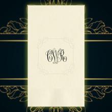 Luxury Wedding Monogram Personalized Guest Towels - Foil Pressed - 100/Set | StationeryXpress NX197
