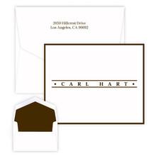 Caslon Design Personalized Fold Notes - Raised Ink Stationery | Stationeryxpress.com | EG8088
