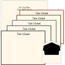 Premium Xpress Flat Bordered Cards for Men - Raised Ink Stationery Set (EG1096)