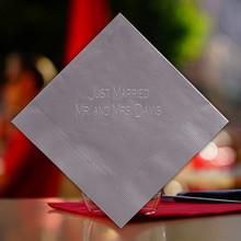 Chessington Wedding Personalized Napkin - Embossed - 100/Set (EG2699)