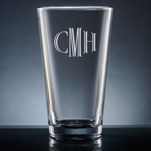 Aroma Monogram Pint Glass - Personalized Drinkware - 10 Font Styles (EG9403)