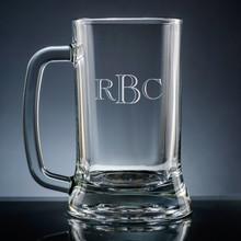 Aroma Monogram Beer Mug - Personalized Drinkware - 10 Font Styles (EG9404)