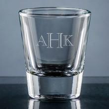 Aroma Monogram Shot Glass - Personalized Drinkware - 10 Font Styles (EG9407)