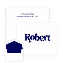 Kids whimsical Font Note - Raised Ink - Kids Personalized Stationery EG5310 | StationeryXpress.com