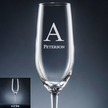 Forte Initial & Name Champagne Flute - Personalized Drinkware - 10 Fonts (EG9408)