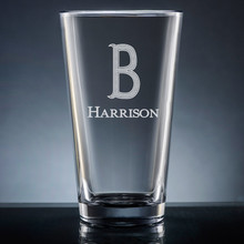 Forte Initial & Name Pint Glass - Personalized Drinkware - 10 Fonts (EG9410)