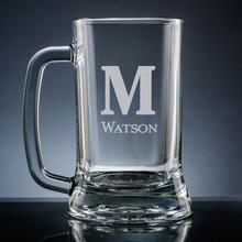 Forte Initial & Name Beer Mug - Personalized Drinkware - 10 Fonts (EG9411)