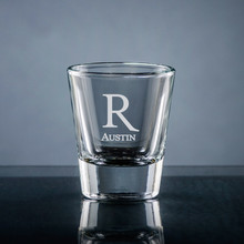 Forte Initial & Name Shot Glass - Personalized Drinkware - 10 Fonts (EG9414)
