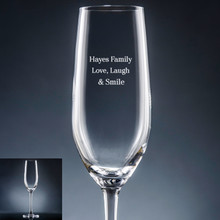 Family Champagne Flute - Personalized Drinkware - 10 Fonts (EG9415)