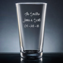 Family Pint Glass - Personalized Drinkware - 10 Fonts (EG9417)