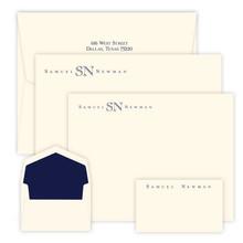 150 Piece Olympic Stationery Set - 3 Flat Card Sizes - Raised Ink Stationery (EG1095)