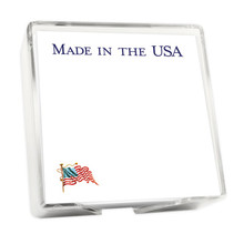 America Memo Squares - White with Holder - Made in USA - 275/Set (EG6525)