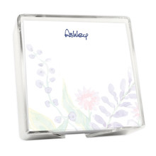 Xpress Floral Memo Squares - White with Holder - Made in USA - 275/Set (EG6519)
