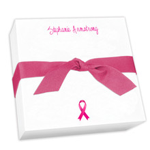 Your Logo Custom Desk Notepad - with hand tied ribbon