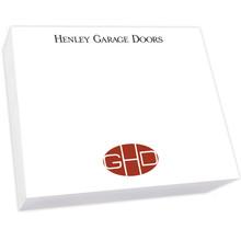 "Your Logo Large Custom Desk Notepad - 250 Sheets (7.25"" x 8.5"") (EG7119)"
