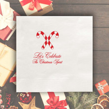 Christmas Personalized Napkins - Foil Pressed - 100/Set  | StationeryXpress.com | NX220