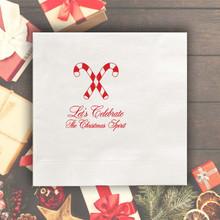 Christmas Personalized Napkins - Foil Pressed - 100/Set  | StationeryXpress.com | NX220