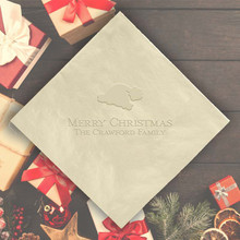 Christmas Personalized Napkins - Embossed - 100/Set  | StationeryXpress.com | NX221