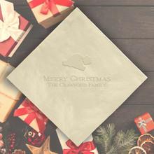 Christmas Personalized Napkins - Embossed - 100/Set  | StationeryXpress.com | NX221