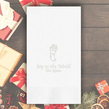 Christmas Personalized Guest Towels - Embossed - 100/Set | StationeryXpress.com | NX223