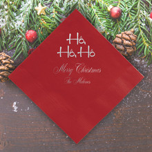 Santa Personalized Napkins - Foil Pressed - 100/Set | StationeryXpress.com | NX224