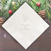 Santa Personalized Napkins - Embossed - 100/Set  | StationeryXpress.com | NX225