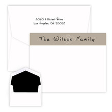 Brown Scroll Colorful Flat Cards - Raised Ink Stationery (EG3100)