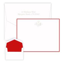 Aria Monogrammed Flat Cards - Embossed Stationery (EG3420)
