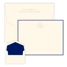 Vermont Monogrammed Flat Cards - Embossed Stationery (EG3421)